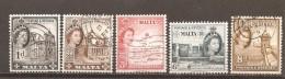 Malta - Yvert  241, 243, 245, 247-48 (usado) (o) - Malta