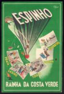 Postal Publicitario ESPINHO - Rainha Da Costa Verde PRAIA, CASINO, TOIROS, PISCINA. Ilustração De CESAR ABBOTT Portugal - Aveiro