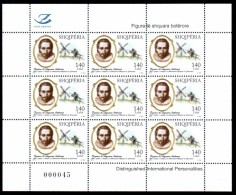 Albania Stamp 2016. Miguel De Cervantes. Don Quixote. Distinguished International Personalities. Sheet MNH - Albanië