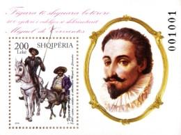 Albania Stamp 2016. Miguel De Cervantes. Don Quixote. Distinguished International Personalities. Block MNH - Albanië