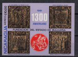 Nicaragua  Blok 147 ** MNH – 1300 Years BULGARIA (1981) - Nicaragua
