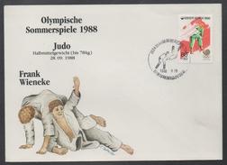 JUDO - ARTS MARTIAUX / 1988 COREE ENVELOPPE  FDC ILLUSTREE  (ref LE801)