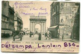 -  BORDEAUX - Porte Des Saliniéres - Charrettes, Pubs Chocolat Et Bénédictine, Animation, Pré, écrite, 1903,  BE, Scans. - Bordeaux