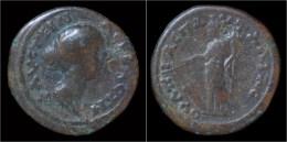 Thrace Pautalia Faustina II AE22 Tyche Standing Left - Romaines