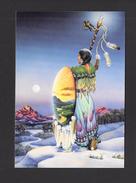 INDIENS DE L' AMÉRIQUE DU NORD - CARTE - JOLIE INDIENNE ORIGINAL ART BY SALLY J. SMITH - 17 X 12 Cm - 6¾ X 4¾ Po - Indiens De L'Amerique Du Nord