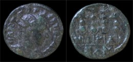Bithynia Nicaea Gordian III AE20 Military Standards - Romaines