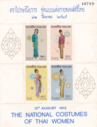 Thailand SS 1 1972 National Costumes Souvenir Sheet MNH - Thailand