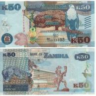 ZAMBIA   50 KWACHA    P60     2015   UNC - Zambia