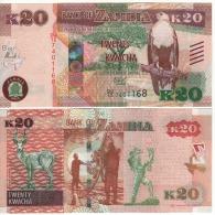ZAMBIA   20 KWACHA    P59     2015   UNC - Zambie