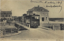 263- COURSEULLES-sur-MER - Le Pont Tournant -ed. N D  - TRAIN - Courseulles-sur-Mer