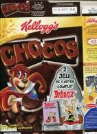 Collector Asterix Emballage Carton  Paquet  Kellogs  Chocos  24x32 Cm - Advertisement