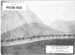 PUBLICITE PRESTINE VELOX TOUR DE FRANCE 1928  GRENOBLE EVIAN  HONORE LEGRAS CHOUILLY   **    RARE A SAISIR ** - Advertising