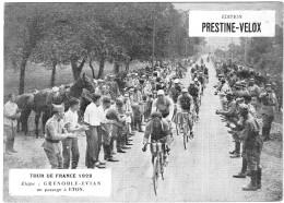 PUBLICITE PRESTINE VELOX TOUR DE FRANCE 1928  GRENOBLE EVIAN  /HONORE LEGRAS CHOUILLY   **    RARE A SAISIR ** - Advertising