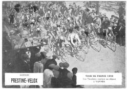PUBLICITE PRESTINE VELOX TOUR DE FRANCE 1928  DEPART  A VANNES  /HONORE LEGRAS CHOUILLY   **    RARE A SAISIR ** - Advertising