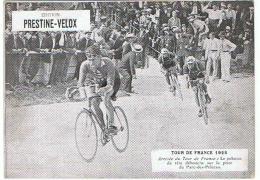 PUBLICITE PRESTINE VELOX TOUR DE FRANCE 1928  ARRIVEE DU TOUR  /HONORE LEGRAS CHOUILLY   **    RARE A SAISIR ** - Advertising