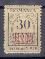 0065 Defins Porto WWI War German Occupation Romania Optd. 1918 Germany 1v ** 20ME - Deutschland