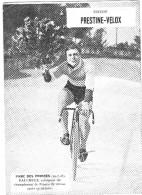 PUBLICITE PRESTINE VELOX PARC DES PRINCES 1928 FAUCHEUX VAINQUEUR    /HONORE LEGRAS CHOUILLY   **    RARE A SAISIR ** - Advertising