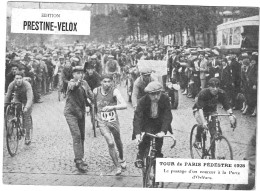 PUBLICITE PRESTINE VELOX  TOUR DE PARIS PEDESTRE 1928   /HONORE LEGRAS CHOUILLY   **    RARE A SAISIR ** - Advertising