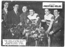 PUBLICITE PRESTINE VELOX  COSTE ET LE BRIX  1928   /HONORE LEGRAS CHOUILLY   **    RARE A SAISIR ** - Advertising