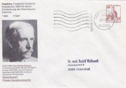 Germany Private Postal Stationary Hopkins, Frederick Gowland P/mMünchen 1988 (SKO14-2c) - [7] Federal Republic