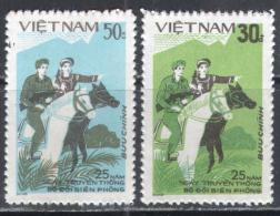 0260 Militia War Militaria Police Horses Soldiers 1984 Vietnam 2v Set MNH ** 11ME - Militaria