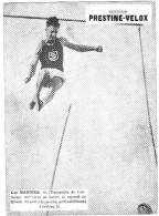 PUBLICITE PRESTINE VELOX LEO BARNES SAUT A LA PERCHE  ? 1928  /HONORE LEGRAS CHOUILLY   **    RARE A SAISIR ** - Advertising