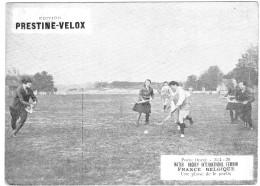 PUBLICITE PRESTINE VELOX MATCH HOCKEY FRANCE BELGIQUE 1928  /HONORE LEGRAS CHOUILLY   **    RARE A SAISIR ** - Advertising