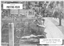 PUBLICITE PRESTINE VELOX PISCINE TOURELLES ? 1928 GAGNE TARIS /HONORE LEGRAS CHOUILLY   **    RARE A SAISIR ** - Advertising