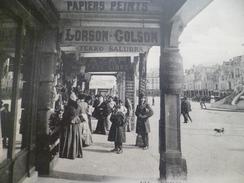 CPA 51 Marne Reims Vue Sous Les Arcades Papiers Peints Lorson Colson Tekko Salubra Pub - Reims