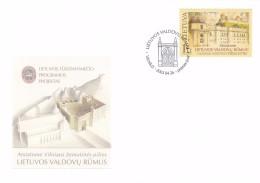 Litauen, 2003, 817, Wiederaufbau Des Palastes. FDC - Lithuania