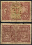 Banknote MALAYA 20 Cents 1941 Poor S/N None MYS#005 - Malaysia