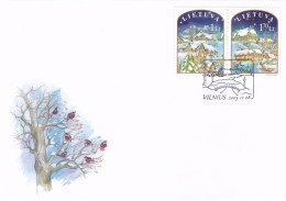 Litauen, 2003, 830/31, Weihnachten Und Neujahr. FDC - Lithuania