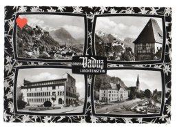 19256-LE-LIECHTENSTEIN-Gruss Au VADUZ-----------bel Affranchissement-------multivues - Liechtenstein