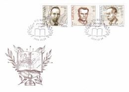 Litauen, 2004, 835/37, Persöhnlichkeiten (XII). FDC - Lithuania