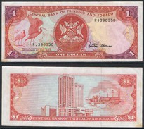 Banknote TRINIDAD And TOBAGO 1 Dollar 1985 VF S/N PJ396350 TTO#001 - Trinidad & Tobago