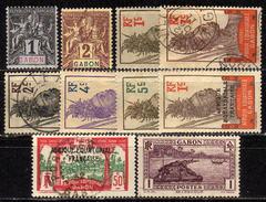GABUN 1904 - 1924 Lot 10 Verschiedene  * / Used - Gabun (1886-1936)