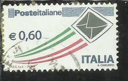 ITALIA REPUBBLICA ITALY REPUBLIC 2009 POSTA ITALIANA € 0,60 USATO USED OBLITERE´ - 6. 1946-.. Repubblica