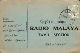 GRANDE BRETAGNE / MALAISIE - Carte De Radio De Bruas En 1956 - A Voir - L  4174 - Malayan Postal Union