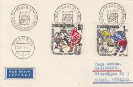 EISHOCKEY-ICEHOCKEY-HOCKE Y SUR GLACE-HOCKEY SU GHIACCIO, CSR/CSSR, 1972, Special Stamp/postmark !! - Hockey (su Ghiaccio)