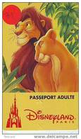 Walt Disney FRANKRIJK Op Passeport Pasport Toegangspas (31) - Disney