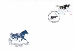 Litauen, 2005, 868, Pferderennen. FDC - Lithuania