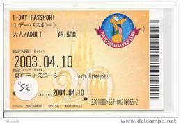 Disney Fast Pass Entreecard TOKYO DISNEYLAND 1-day Passport (52) - Disney