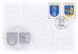 Litauen, 2005, 869/70, Stadtwappen (XIV). FDC - Lituanie