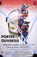 Affiche Portes Ouvertes BSPP Centre De Secours De Montreuil - Pompiers