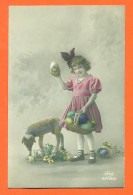 """CPA Paques """" Petite Fille Et Mouton  """" - Pasqua"""