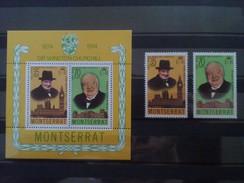 SIR WINSTON CHURCHILL MONTSERRAT BLOC ET SERIE NEUF** DEPART 1 EURO!!!