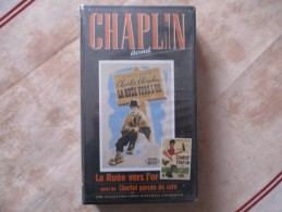 Cassette Video CHARLOT La Ruee Vers L'or+ Charlot Garcon De Cafe (k7 Neuve Sous Blister)charlie Chaplin - Classiques