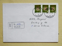 Cover Sent In Lithuania Registered Kaunas Coat Of Arms Vytis Silale - Lithuania