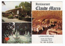 39756-ZE-77-CARTON PUBLICITAIRE-M. Et Mme MARCO-La Magdelaine-46000 CAHORS----non Plié - Hotel Labels