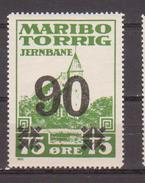 Denmark Local Railway Parcel. Maribo-Torrig 90/75 Oere.MNH.Railways/Eisenbahnmarke - Trains